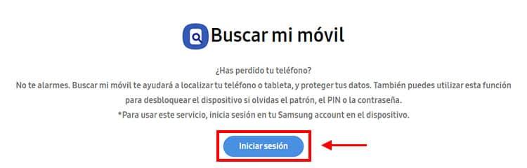 Como funciona Find my mobile para localizar un Samsung