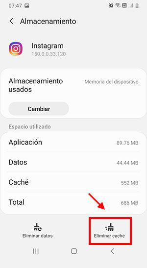 borrar cache en android liberar espacio en el movil paso 5