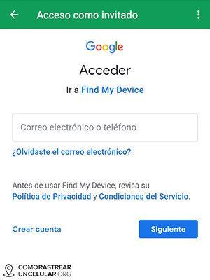 localizar celular con la app de Google