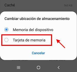 mover app a la tarjeta de memoria paso 5